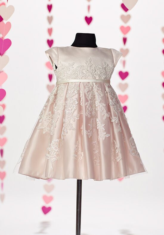 Joan Calabrese by Mon Cheri 217391B Pink Flower Girl Dress