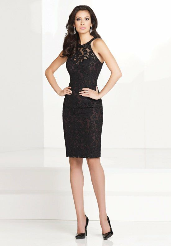 Social Occasions by Mon Cheri 115862 Black Mother Of The Bride Dress