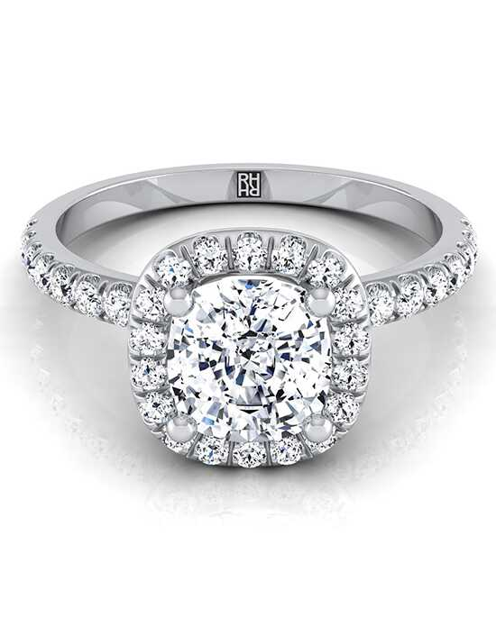 RockHer Unique Cushion Cut Engagement Ring