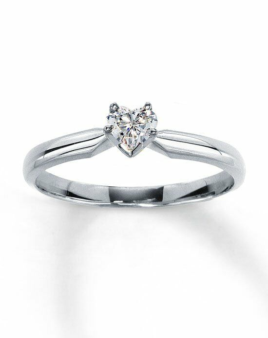 Kay Jewelers Diamond Solitaire Ring 14 ct HeartShaped 14K White