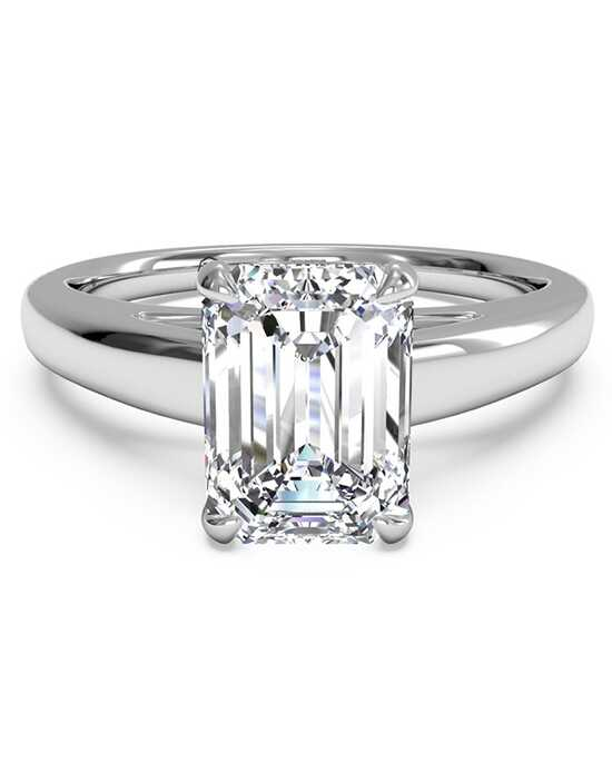 ritani solitaire diamond cathedral engagement ring - Emerald Cut Wedding Rings