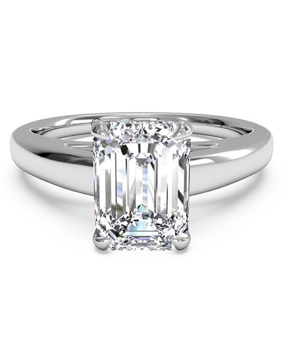 Ritani. Solitaire Diamond Cathedral Engagement Ring ...