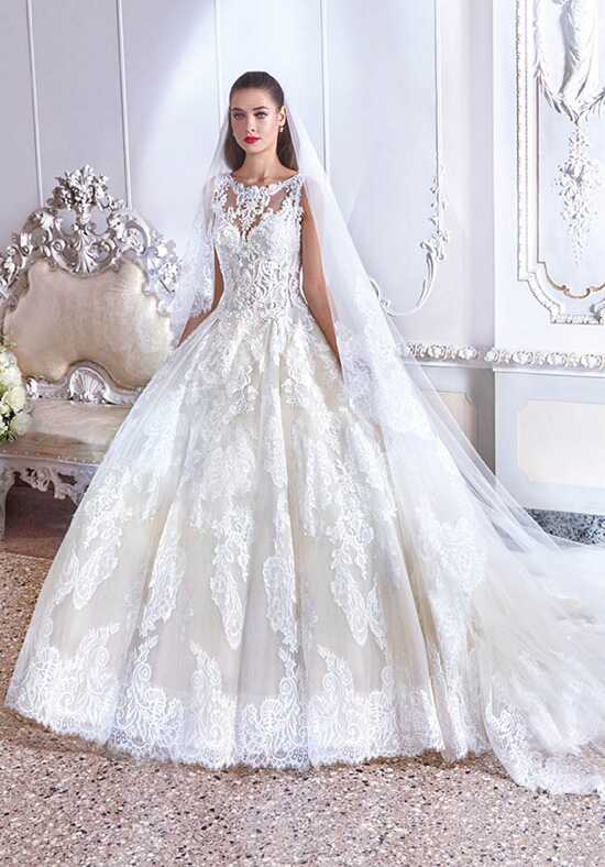 Platinum by Demetrios DP390 - Simone Ball Gown Wedding Dress