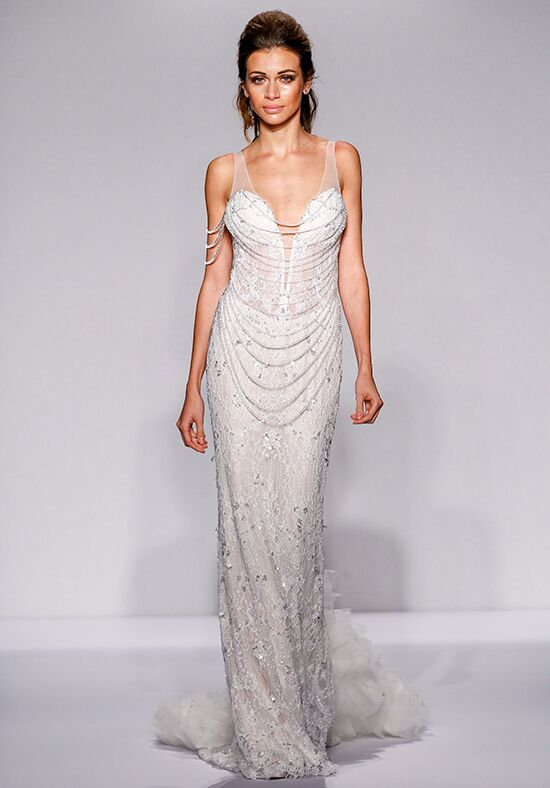 Pnina tornai for kleinfeld 4448 wedding dress the knot for Pnina tornai wedding dresses prices