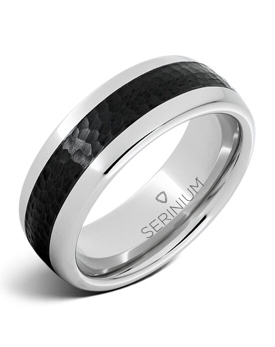 Serinium® Collection Cobblestone — Black Ceramic Serinium® Ring-RMSA002205 Serinium® Wedding Ring