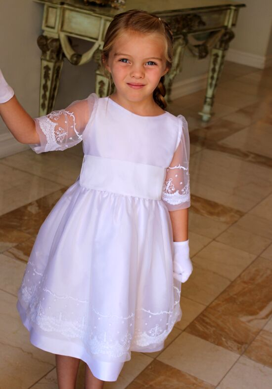 Isabel Garretón Grace White Flower Girl Dress