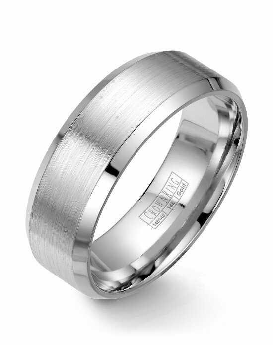 CrownRing WB-7131-M10 White Gold Wedding Ring