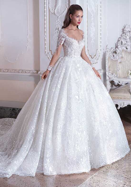 Platinum by Demetrios DP392 - Celeste Ball Gown Wedding Dress