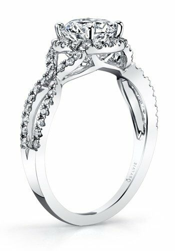 Sylvie Collection SY260 Platinum, White Gold Wedding Ring