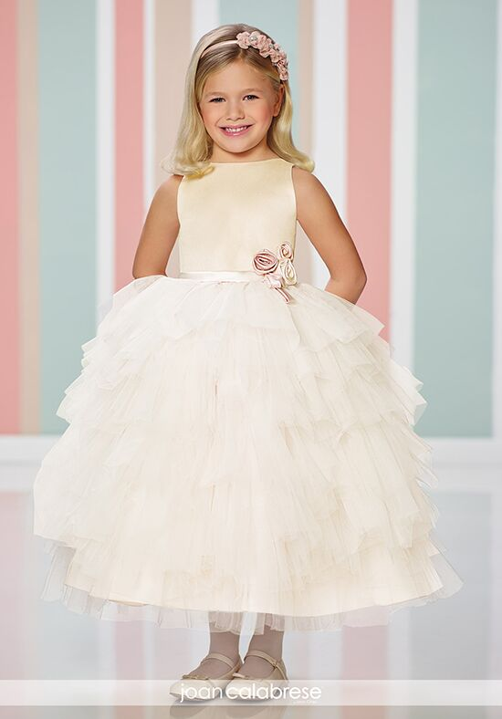 Joan Calabrese by Mon Cheri 216307 Gold Flower Girl Dress