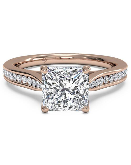 Ritani Channel-Set Diamond Engagement Ring with Surprise Diamonds - in 18kt Rose Gold (0.14 CTW) for a Princess Center Stone Engagement Ring photo