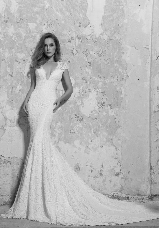 LOVE by Pnina Tornai for Kleinfeld 14414 Sheath Wedding Dress
