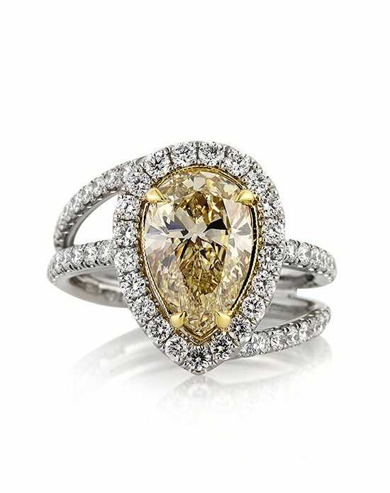 Mark Broumand Unique Pear Cut Engagement Ring