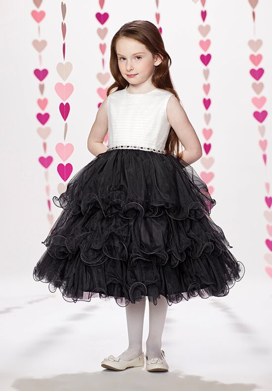 Joan Calabrese by Mon Cheri 217374 Black Flower Girl Dress
