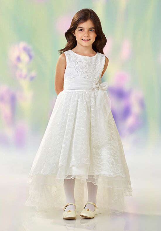 Joan Calabrese by Mon Cheri 118331 White Flower Girl Dress