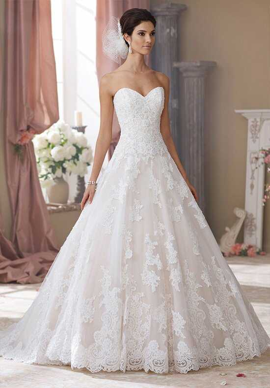 David Tutera for Mon Cheri 214206 Wyomia Ball Gown Wedding Dress