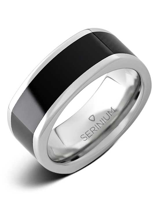 Serinium® Collection Cubist —Serinium® & Black Diamond Ceramic™ Ring-RMSA003015 Serinium® Wedding Ring
