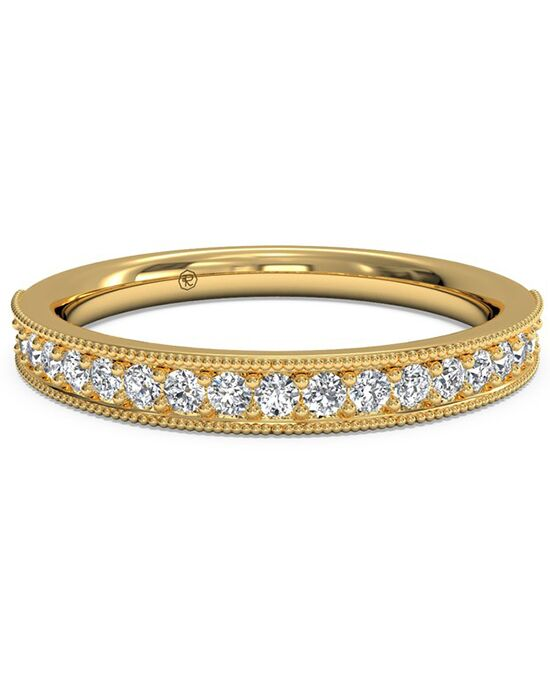 Ritani Women's Diamond Milgrain Wedding Band - in 18kt Yellow Gold (0.24 CTW) Gold Wedding Ring