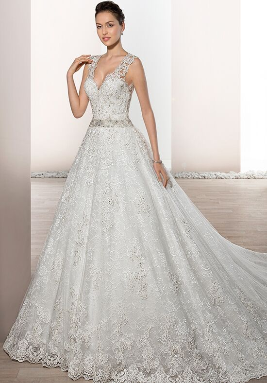 Demetrios 730 Ball Gown Wedding Dress