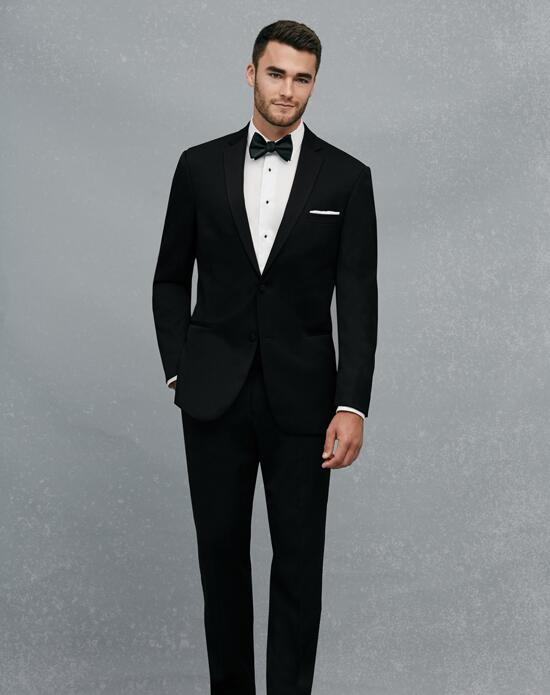 Jos. A. Bank Black Notch Lapel Slim Fit Tuxedo Wedding Tuxedos + Suit photo
