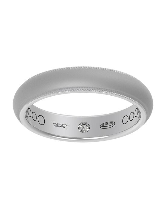 Everband 4 mm Milgrain with Matte Gold, White Gold, Rose Gold, Platinum Wedding Ring