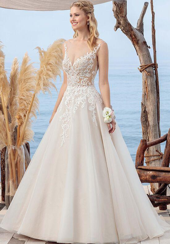 Beloved By Casablanca Bridal BL249 Coral A Line Wedding Dress