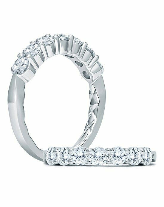 A.JAFFE WR1029Q White Gold Wedding Ring