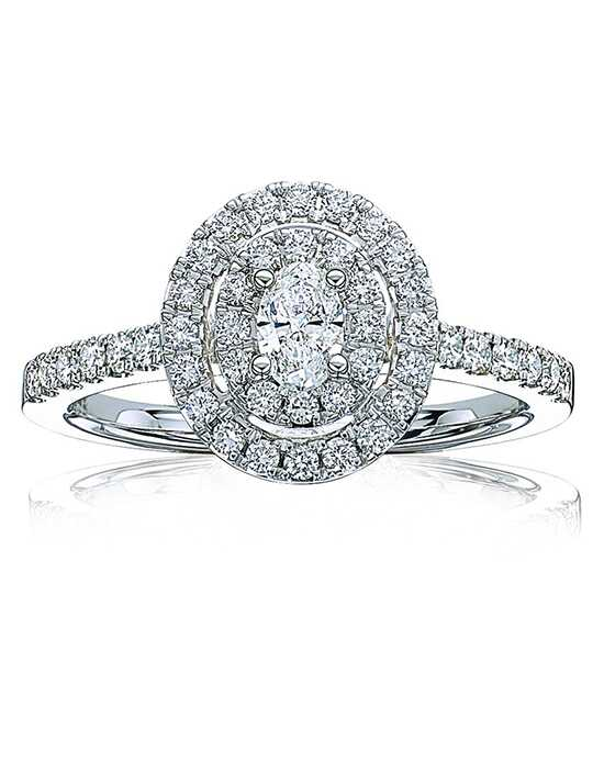 Rogers & Hollands® Glamorous Round, Oval Cut Engagement Ring