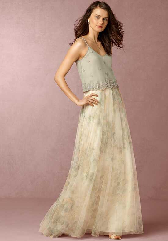 BHLDN (Bridesmaids) Louise Tulle Skirt-Flower Green Bridesmaid Dress