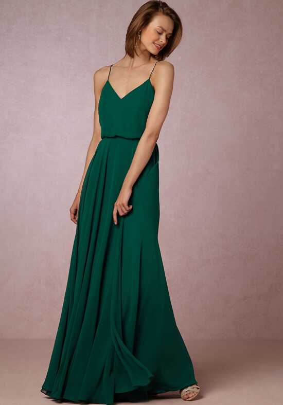 BHLDN (Bridesmaids) Inesse Dress - Emerald V-Neck Bridesmaid Dress