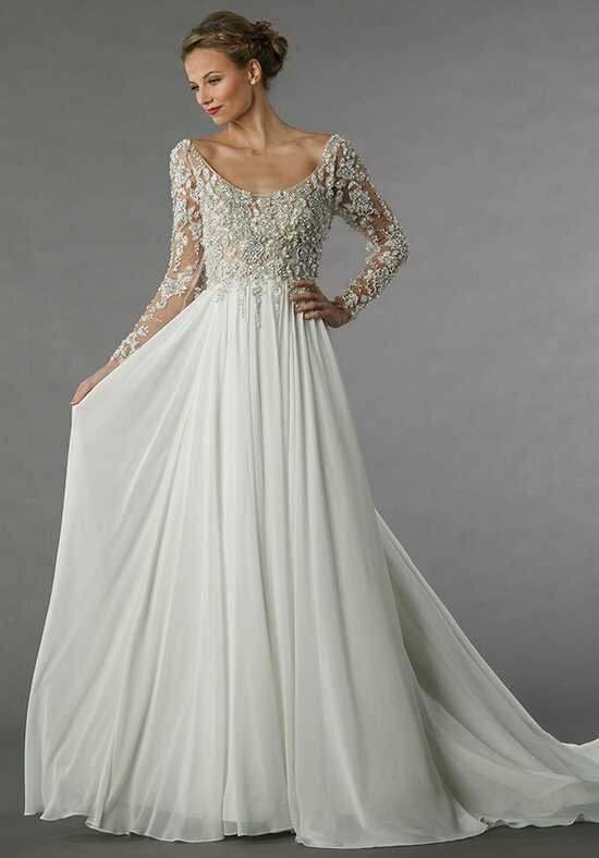 Chiffon wedding dresses for Chiffon tulle wedding dress