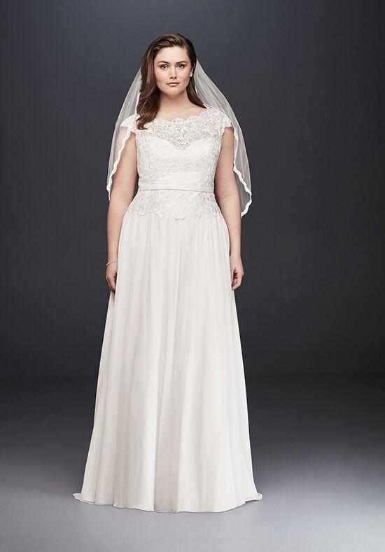A Line Chiffon Wedding Dress