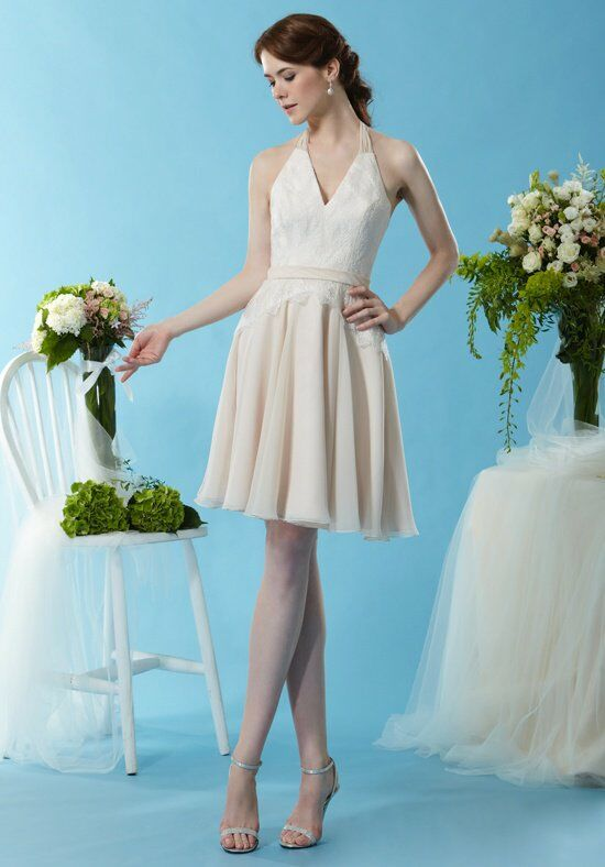 Eden Bridesmaids 7448 Halter Bridesmaid Dress