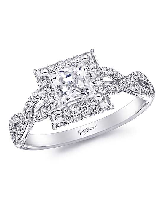 Coast Diamond Glamorous Princess Cut Engagement Ring