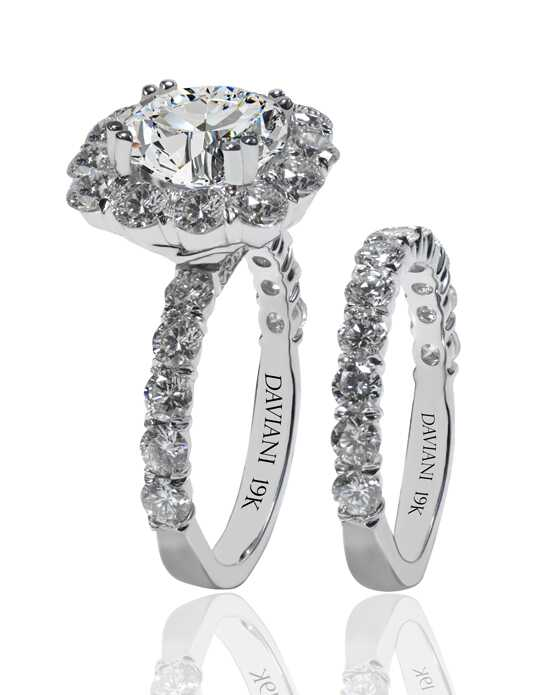 Daviani Love Links Collection DCR1155 White Gold Wedding Ring