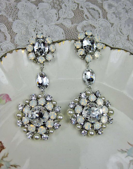 Everything Angelic Josephine Earrings - e331 white opal Wedding Earring photo