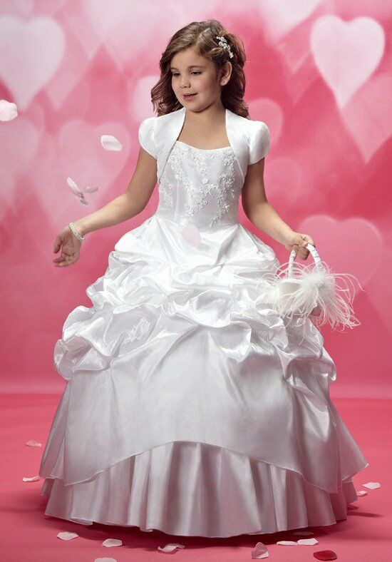 Cupids by Mary's F172 White Flower Girl Dress