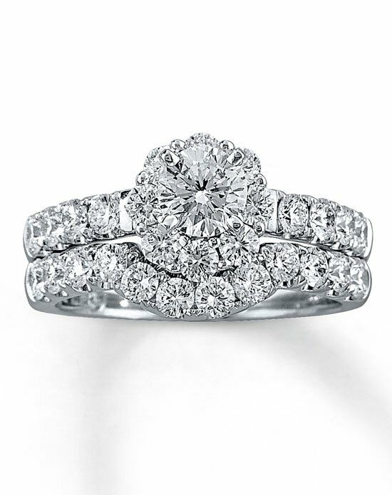 The Leo Diamond Diamond Bridal Set 2 ct tw RoundCut 14K White