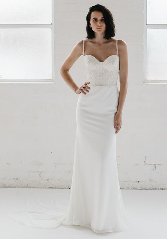 KAREN WILLIS HOLMES Neisha & Helena Sheath Wedding Dress