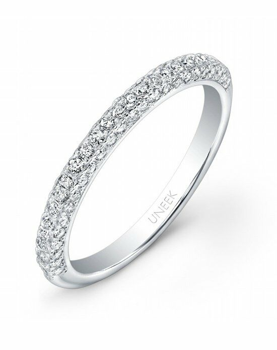 Uneek Fine Jewelry UWB01 White Gold Wedding Ring