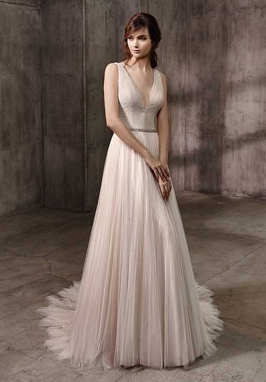 Badgley Mischka Belle Alessandra A-Line Wedding Dress