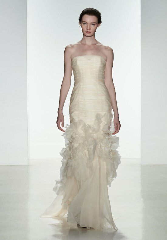 Amsale darcy wedding dress the knot for Amsale wedding dress price