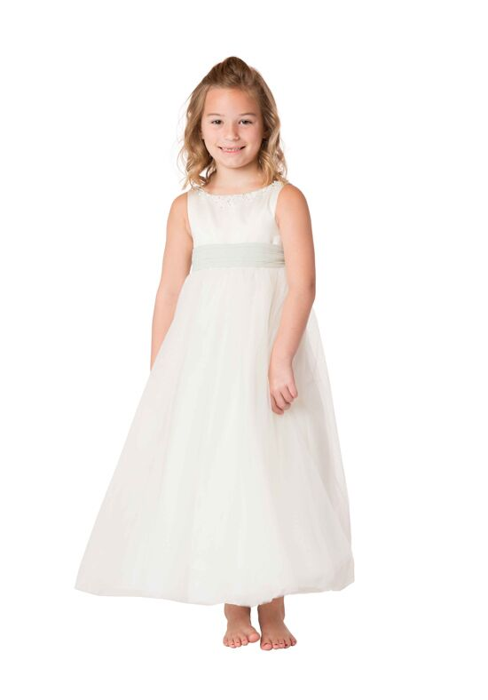 Bari Jay Flower Girls F6717 Ivory Flower Girl Dress