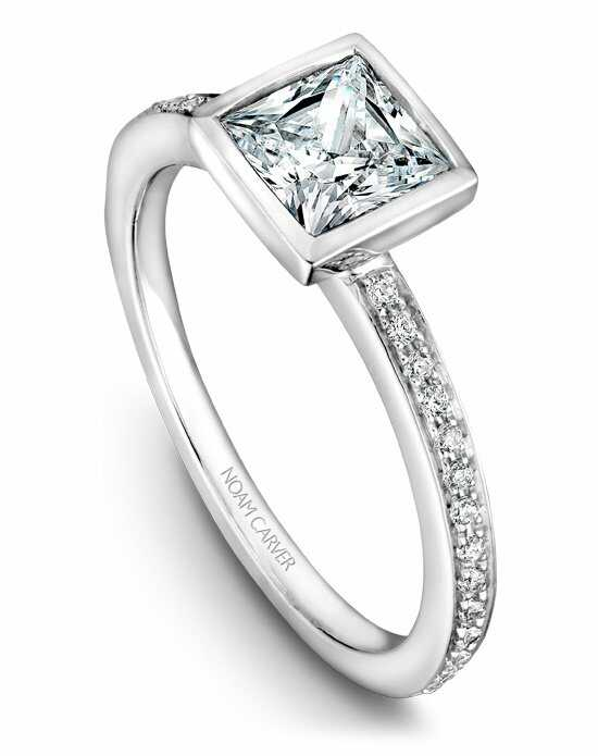 Noam Carver Unique Princess Cut Engagement Ring