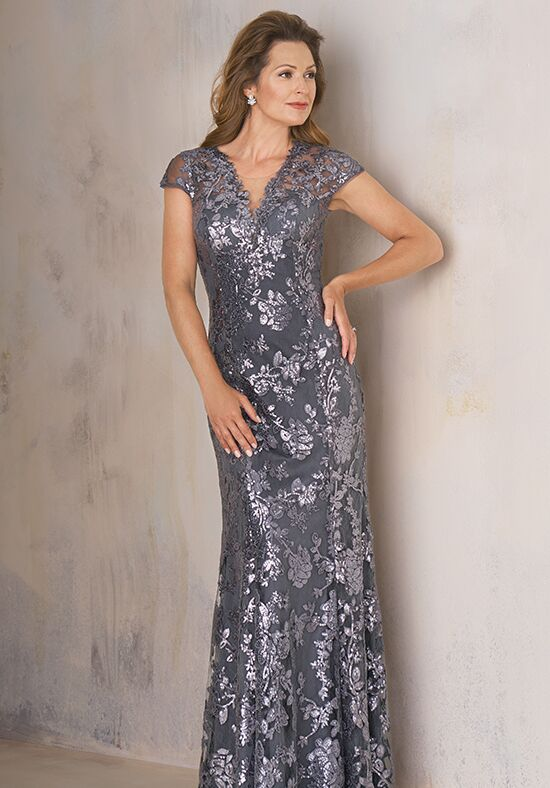 Jade Couture K208008 Silver Mother Of The Bride Dress