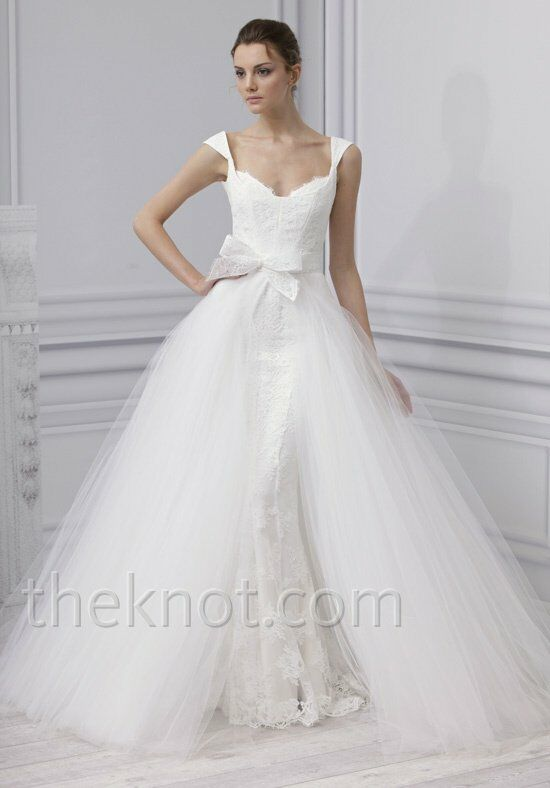 Monique Lhuillier Embrace Sheath Wedding Dress