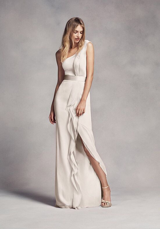 White by Vera Wang Collection White by Vera Wang Style VW360274 One Shoulder Bridesmaid Dress