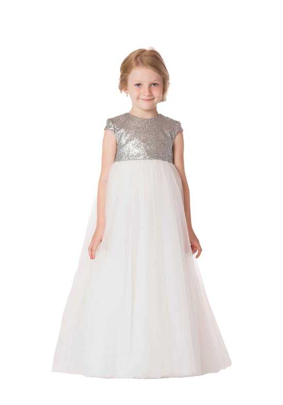 Bari Jay Flower Girls F6417 Ivory Flower Girl Dress