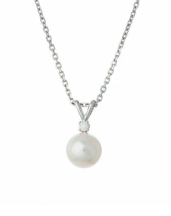 Thomas Laine Akoya Pearl and Diamond Necklace Wedding  photo