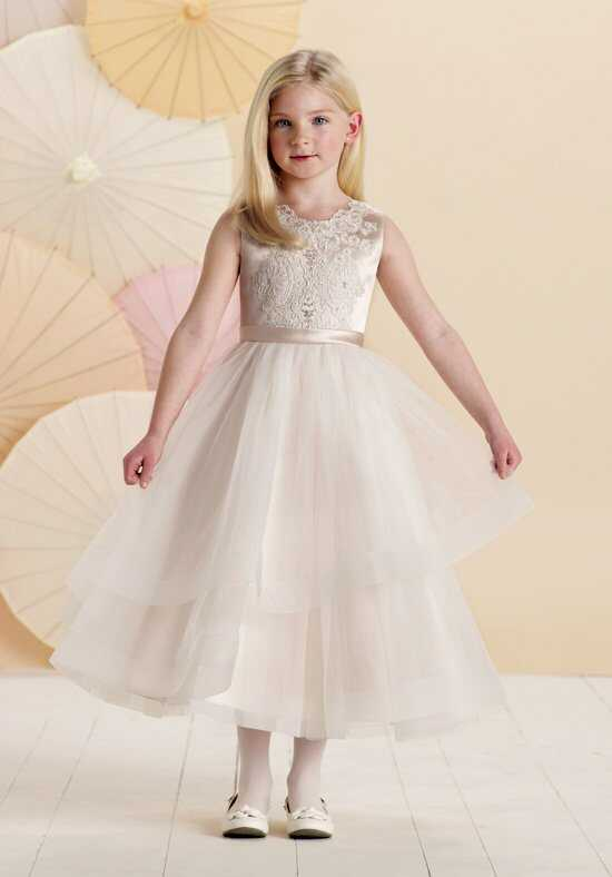 Joan Calabrese by Mon Cheri 214376 Pink Flower Girl Dress
